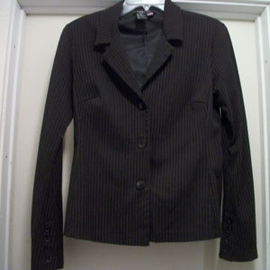 CUTE RAMPAGE TINY RED PINSTRIPES JACKET LG